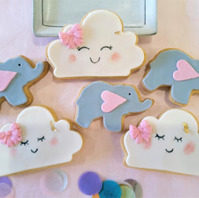 Cookies Baby Elephant Pink In The Clouds