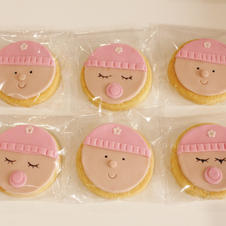 Cookies Baby Beanie Girl Pink