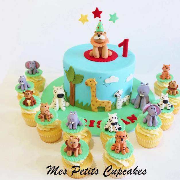 Birthday Cake - Animal Jungle Safari Bir