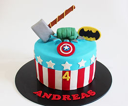 Birthday Cake - Superhero Captain Americ