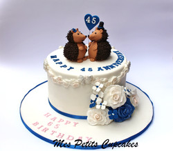 Hedgehogs 45th Sapphire Wedding Anniversary