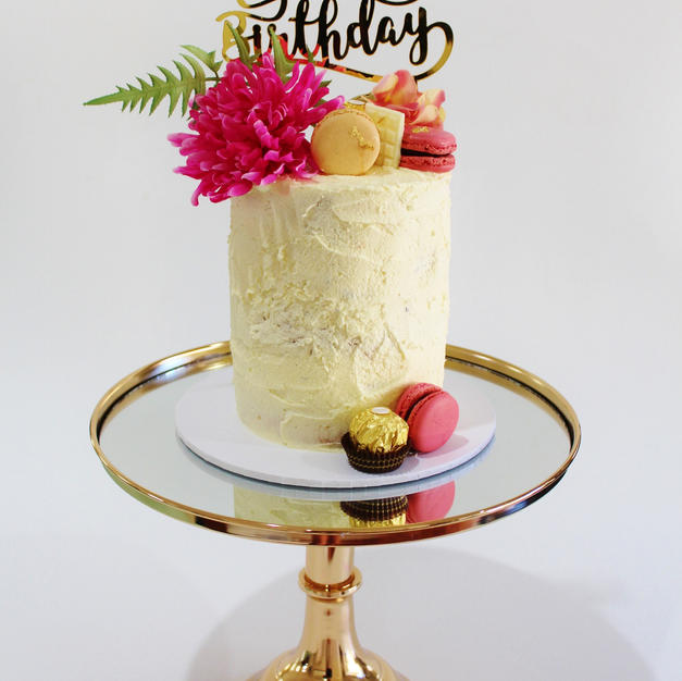 Small Cake - Birthday Cake Dark Pink.JPG