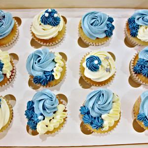 Cupcakes Floral - Blue Sky