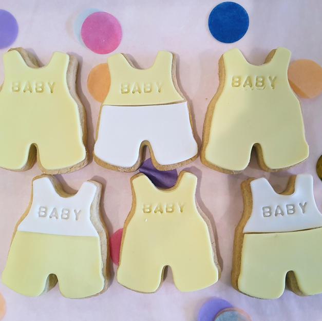 Cookie Baby Romper Yellow Girl or Boy.jp