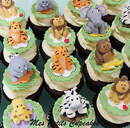 Cupcake 3D Jungle Safari Animals Figurin