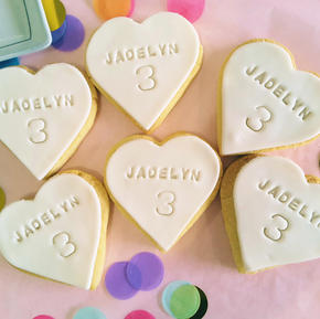 Cookie Heart - Name-Age Personalised