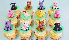 Cupcake - Farm Animals Horse Cow Chick L