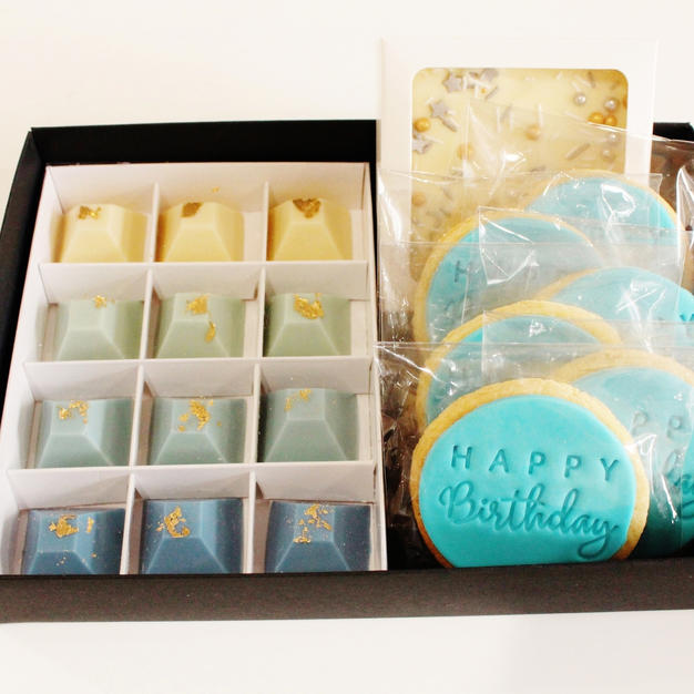 Gift Box Blue Happy Birthdayes 1