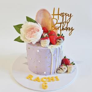 Buttercream Cake - Mauve Strawberry Birt