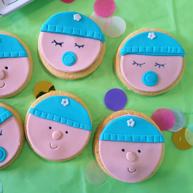 Cookie - Baby Beanie Blue