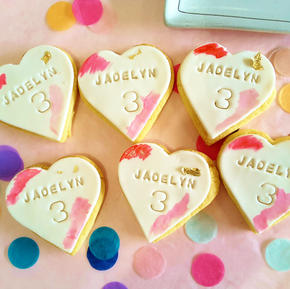 Cookie Heart - Birthday Name Age Custom
