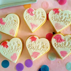 Cookie Heart - Happy Birthday Pink Blush