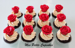 Cupcake - Red Roses Cupcakes Wedding