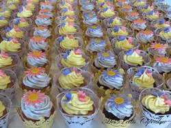 Cupcake Wedding with Flowers