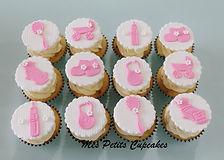 Cupcake - Baby Shower Baby Arrival Girl