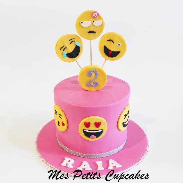 Birthday Cake - Emoji Pink Birthday Cake