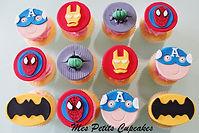 Superhero Captain America Cupcakes