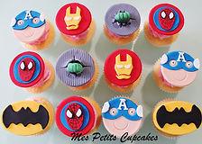 Cupcake - Superhero Spiderman Batman Hul