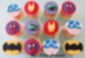 Cupcake - Superhero Spiderman Batman Hul