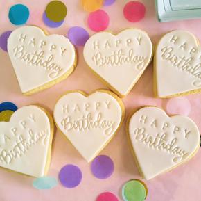 Cookie Heart - Happy Birthday Heart