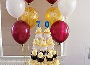 Cupcake - 70th Birthday Cupcake Tower.jp