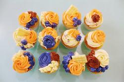 Cupcakes Floral - Orange Sunset