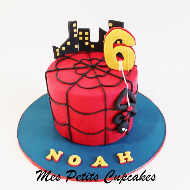 Birthday Cake - Superhero Spiderman Hulk