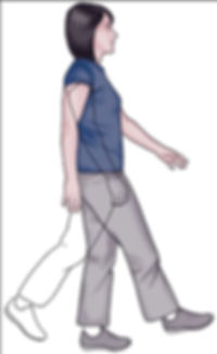 Single leg walking exercise