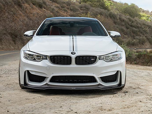 Vorsteiner - VRS GTS Front Lip Carbon Fiber 2x2 Glossy BMW F82 M4/F80 M3 15-18