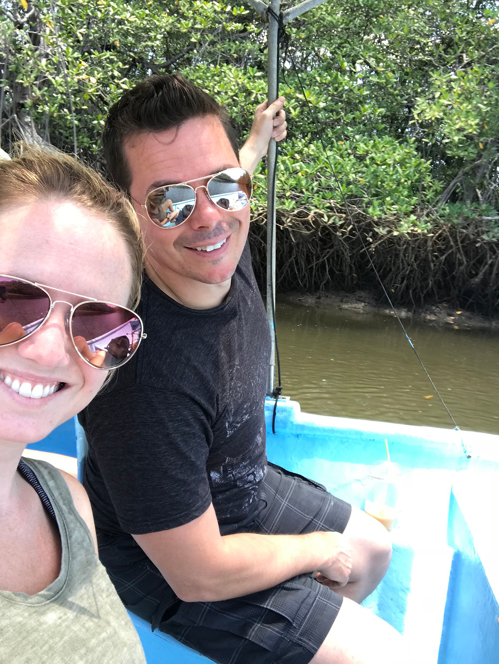 Jeff and I boating through Costa Rica