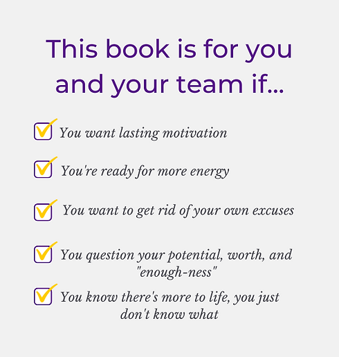 This book is for you or your team if....