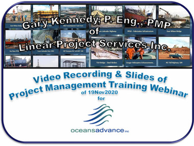 Project Management Training Webinar for OceansAdvance: Recorded Video (20202-11-20)