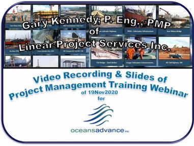 Project Management Training Webinar for OceansAdvance: Recorded Video (20202-11-20)