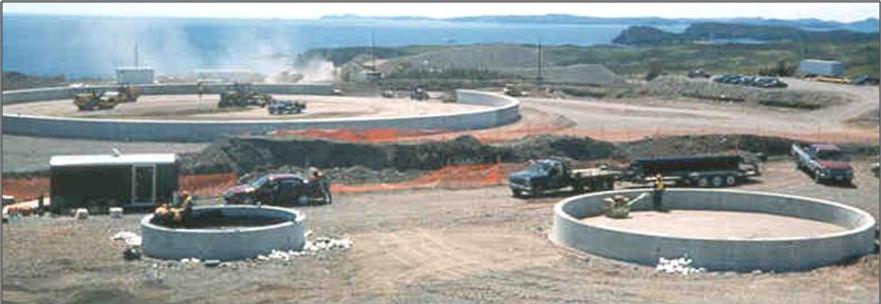 Newfoundland Transshipment, Oil Tank Farm, Gary Kennedy, P. Eng., PMP, Newfoundland Labrador, Cost Control, Construction, Engineer, Bridge, Ringwall Foundations, Concrete, Cement, Soils Compaction