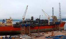offshore oil gas FPSO ship production new refit repair marine fabrication process piping, White Rose