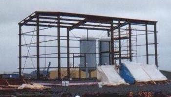 Bull Arm, Hibernia, Industrial Steel Frame Building, Engineer, Construction, Safety, Hoarding