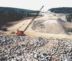 Gary Kennedy, P. Eng., PMP, Newfoundland Labrador, Construction, Engineer, Nova Scotia Highway 104 Cumberland Bridge West Abutment Foundation, Concrete, Crane, Cement, Soils Compaction
