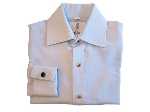 Boy's French Cuff Shirt - Blue