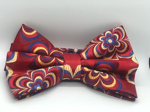 Bow Tie - Red Yellow and Blue Floral