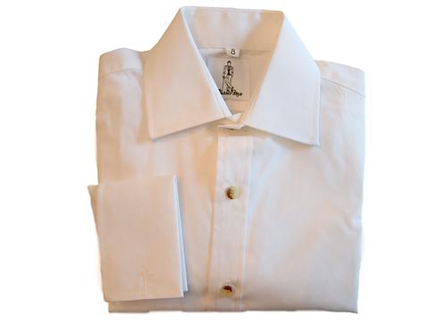Boy's French Cuff Shirt -White
