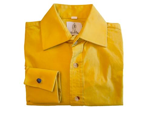 Boy's French Cuff Shirt - Yellow