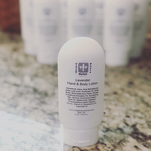 Natural Moisturizing Hand and Body Lotion with Shea Butter