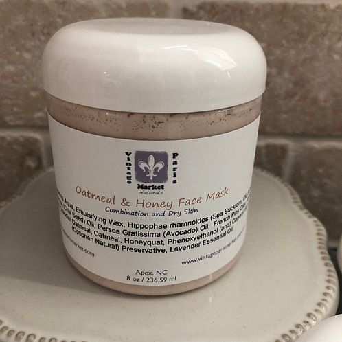 Oatmeal & Honey Face Mask for Combination and Dry Skin, Exfoliating Face Mask