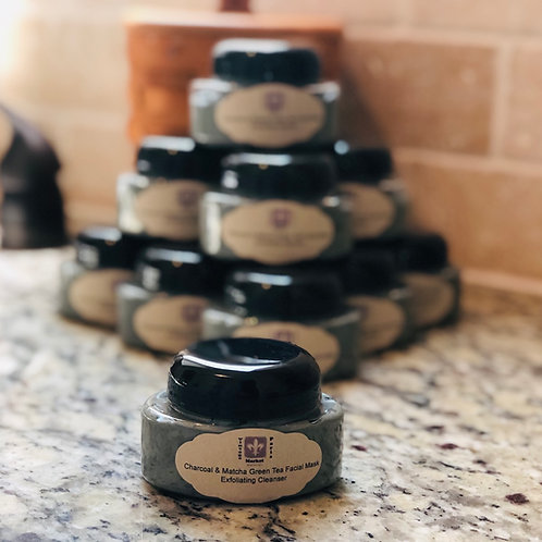 Charcoal & Match Green Tea Facial Mask Exfoliating Cleanser