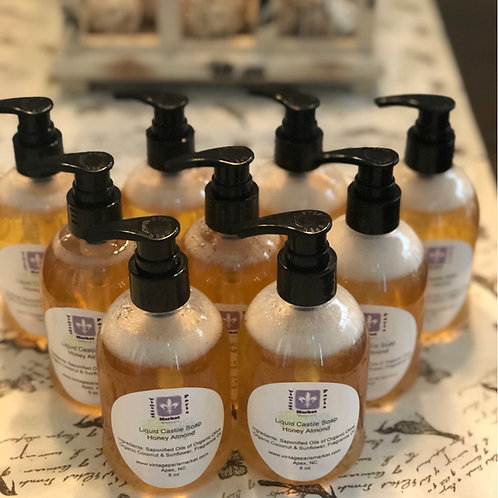 Natural Liquid Castile Soap Honey Almond