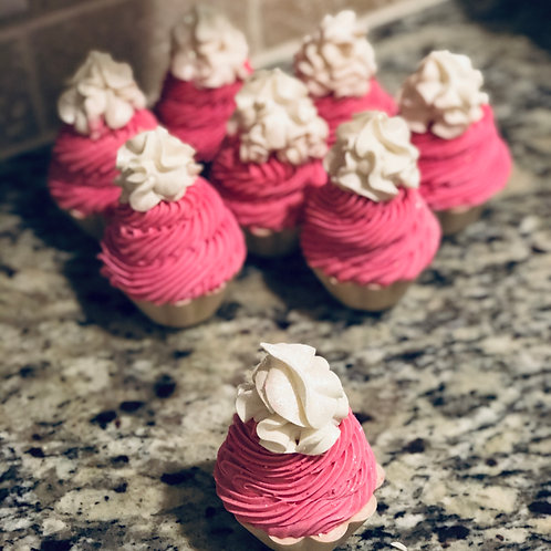 Cupcake Artisan Soap Cold Process, Orange Cranberry Marmalade