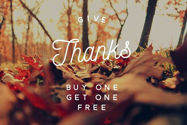 Buy on get one free conditioning treatments in November!
