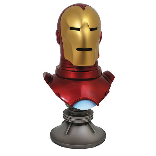 LEGENDS IN 3D MARVEL COMIC IRON MAN 1/2 SCALE BUST (MUST ORDER 6 OR MORE)