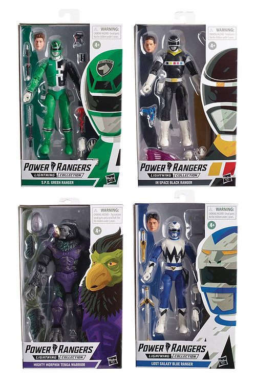 POWER RANGERS LIGHTNING 6IN AF ASST SET ALL 4! COMES OUT IN AUGUST