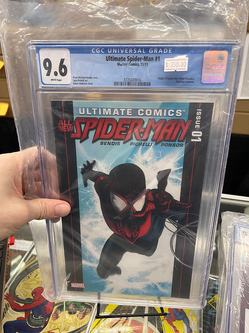 Ultimate SpiderMan 1 CGC 9.6